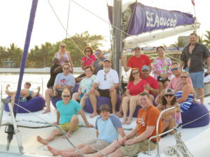 On the sunset sail with free beer, rum and mai tais