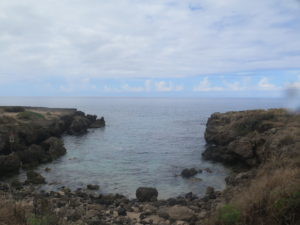 beach entry at Kaena Point