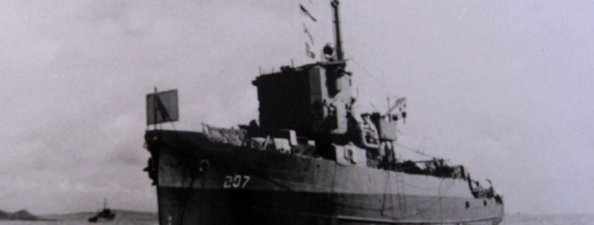 Mahi before sinking