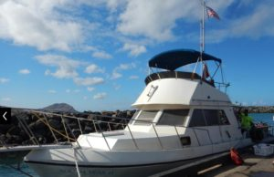 dive boat for pelagic night dives on the west coast of oahu